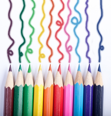 Colored Pencils drawing lines