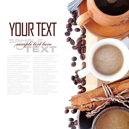 Coffee Break Menu ( With coffee cups, sample text )