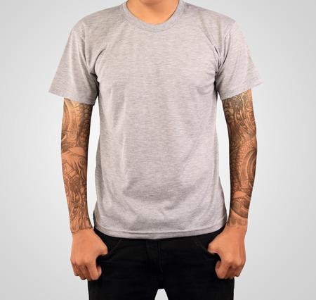 grey t-shirt template