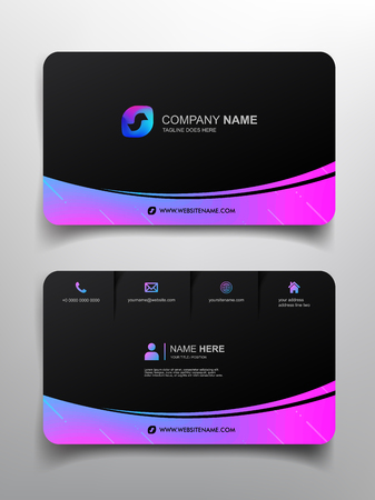 Ilustración de business card template design with simple design - Imagen libre de derechos