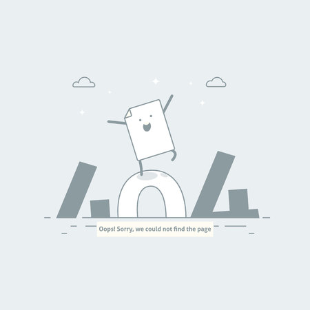 Illustration pour Design 404 error. Page is lost and not found message. Template for web page with 404 error. Modern line design. - image libre de droit