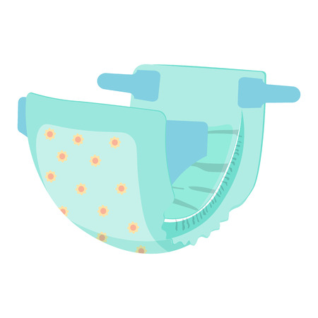 Illustration pour Diaper nappy vector illustration isolated on a white background - image libre de droit