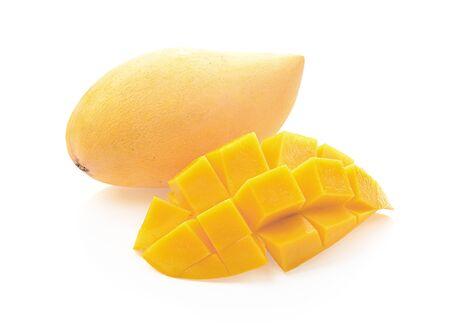 Photo for mango isolated photography on a white background - Royalty Free Image