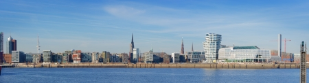 Panorama picture Of Hamburg in Germany