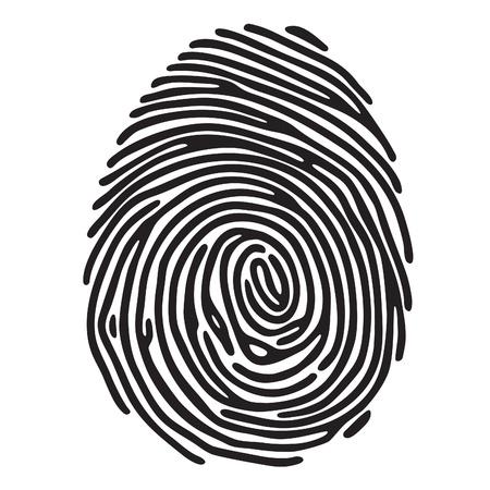 Ilustración de finger print - Imagen libre de derechos