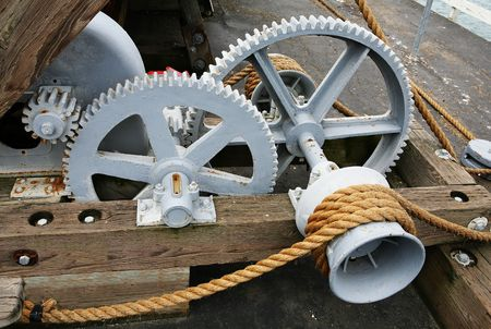 Gears and rope in action