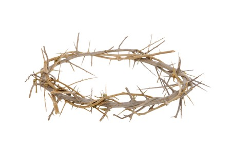 A religious corwn of thorns isolated over white background