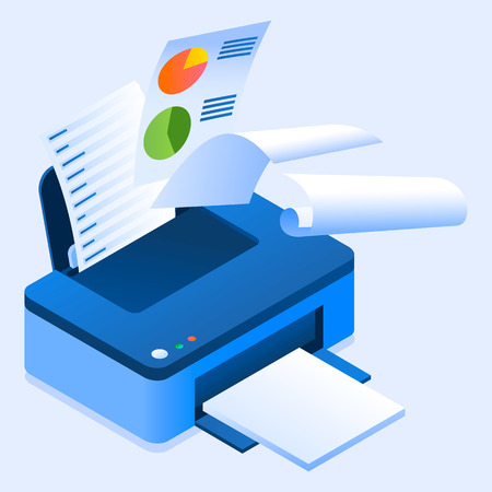 Illustration pour Office printer icon. Isometric of office printer vector icon for web design isolated - image libre de droit