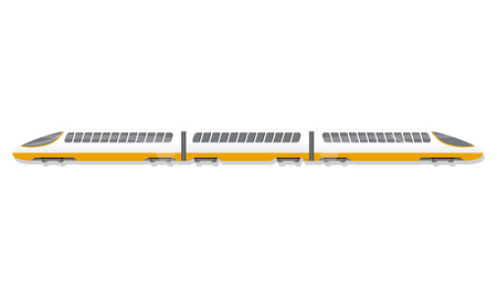 Ilustración de High speed train icon. Cartoon of high speed train vector icon for web design isolated on white background - Imagen libre de derechos