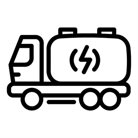 Ilustración de Truck energy icon. Outline truck energy vector icon for web design isolated on white background - Imagen libre de derechos