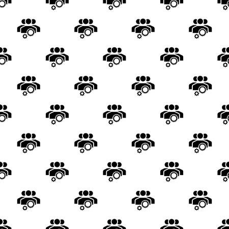 Team work gear pattern seamless repeat for any web design