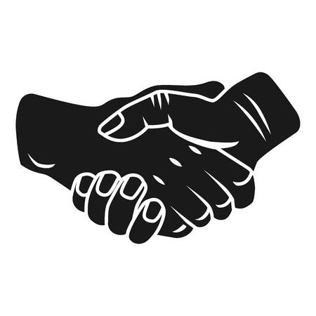 Handshake icon. Simple illustration of handshake vector icon for web design isolated on white background