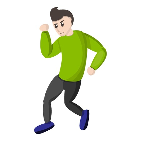 Boy break dance icon. Cartoon of boy break dance vector icon for web design isolated on white background
