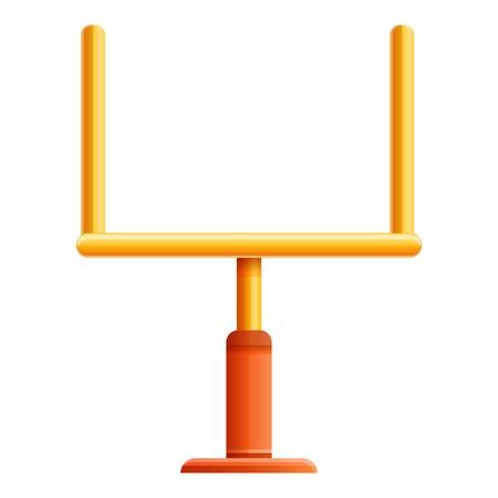 Ilustración de American football gate icon. Cartoon of american football gate vector icon for web design isolated on white background - Imagen libre de derechos