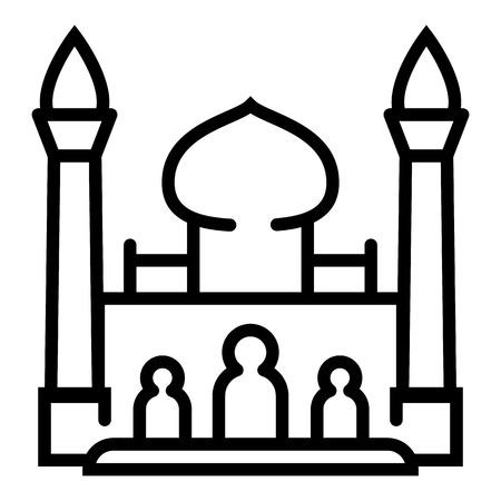 Photo pour Taj Mahal icon. Outline Taj Mahal icon for web design isolated on white background - image libre de droit