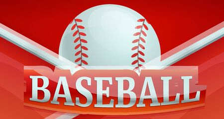 Baseball fire sport concept banner. Cartoon illustration of baseball fire sport vector concept banner for web design