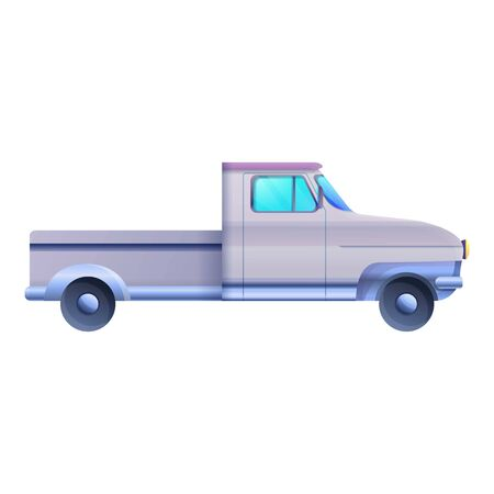 Illustration pour Side retro pickup icon. Cartoon of side retro pickup vector icon for web design isolated on white background - image libre de droit