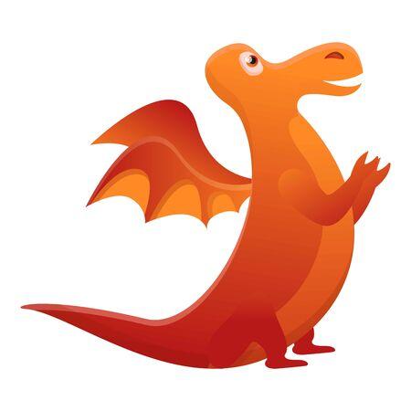 Fairytale dragon icon. Cartoon of fairytale dragon vector icon for ...