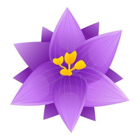Illustration pour Violet crocus icon. Cartoon of violet crocus vector icon for web design isolated on white background - image libre de droit