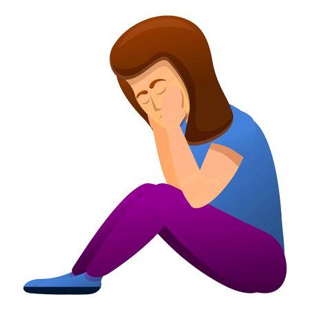 Ilustración de Depression icon. Cartoon of depression vector icon for web design isolated on white background - Imagen libre de derechos