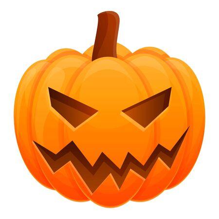 Illustration pour Pumpkin icon. Cartoon of pumpkin vector icon for web design isolated on white background - image libre de droit