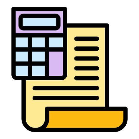 Illustration pour Finance calculator report icon. Outline finance calculator report vector icon for web design isolated on white background - image libre de droit