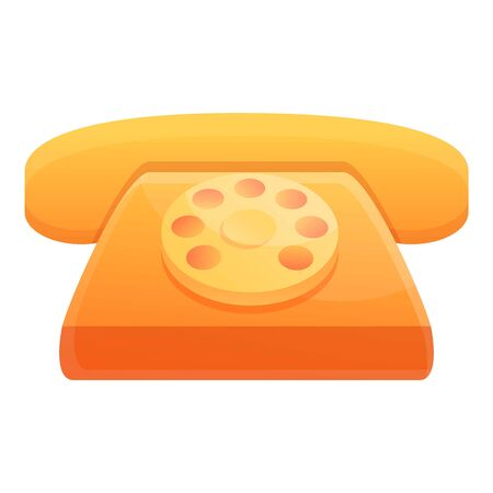Illustration pour Hotel telephone icon. Cartoon of hotel telephone vector icon for web design isolated on white background - image libre de droit