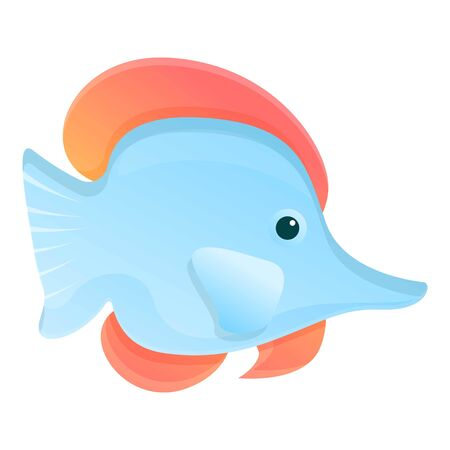 Reef fish icon. Cartoon of reef fish vector icon for web design isolated on white background