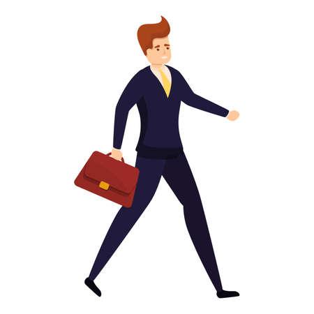 Illustration pour Walking bank teller icon. Cartoon of walking bank teller vector icon for web design isolated on white background - image libre de droit