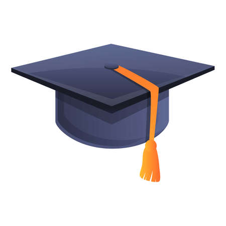 Illustration pour Ceremony graduation hat icon. Cartoon of ceremony graduation hat vector icon for web design isolated on white background - image libre de droit