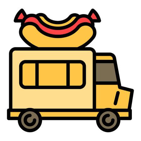 Foto de American hot dog truck icon, outline style - Imagen libre de derechos