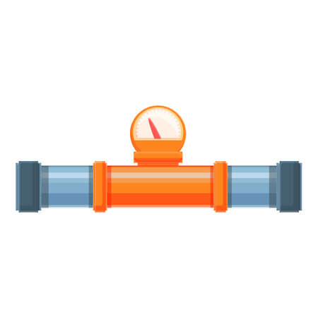 Illustration pour Hot water pipe icon, cartoon style - image libre de droit