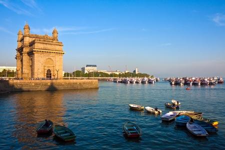 Gateway of India at sunset in Mumbai.