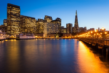 San Francisco skyline from P