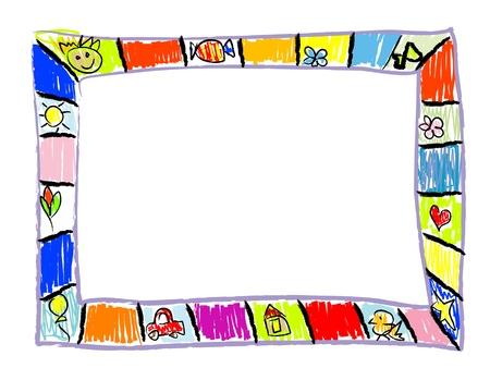 Color Doodles Frame