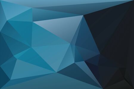 Illustration pour Abstract geometric background with triangles. Vector polygonal texture background. Deep blue abstract business background. EPS10 vector illustration. - image libre de droit