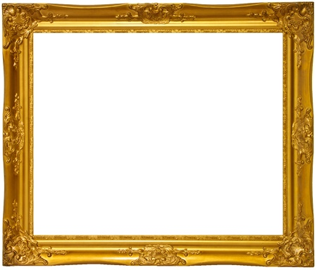 Gold color wooden photo frame