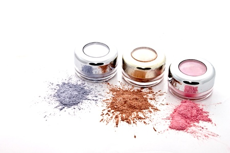 colorful makeup set  on white backgroundの写真素材