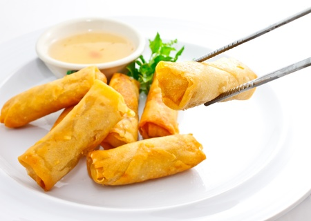 springroll with sweet plum sauce