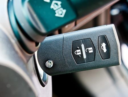 a car key in key hole