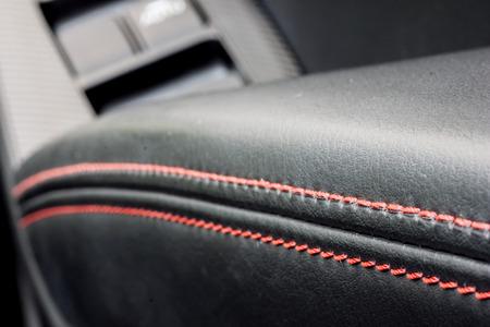 Photo pour leather decoration in a car - image libre de droit