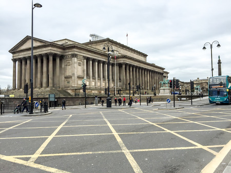 Old Roman style building in Liverpool, UK
