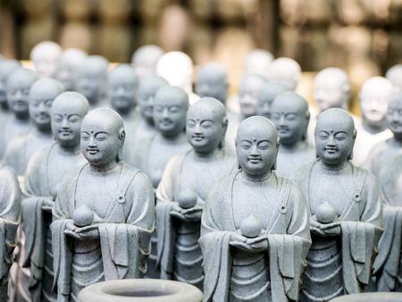 monk sculptures at Hase dera temple, Kamakura, Japan