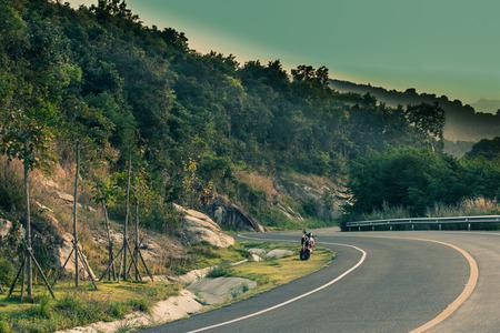 Scenic road in Songkhla Zoo landscape.