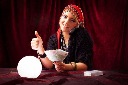 Photo pour Fortune Teller With Crystal Ball - image libre de droit