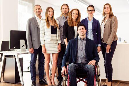 Photo pour Small Business Team In Their Office - image libre de droit