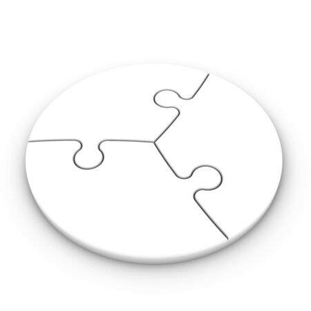 isolated puzzle pieces to place concepts