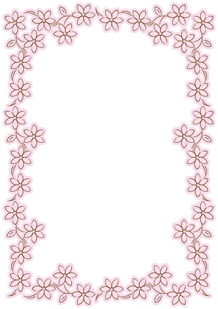 pink flower border