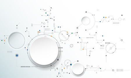 Illustration pour illustration circuit board, Hi-tech digital technology and engineering, digital telecom technology concept. Abstract futuristic on light blue color background - image libre de droit