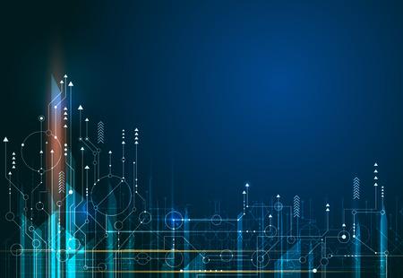 Ilustración de Vector Abstract, science, futuristic, energy technology. - Imagen libre de derechos